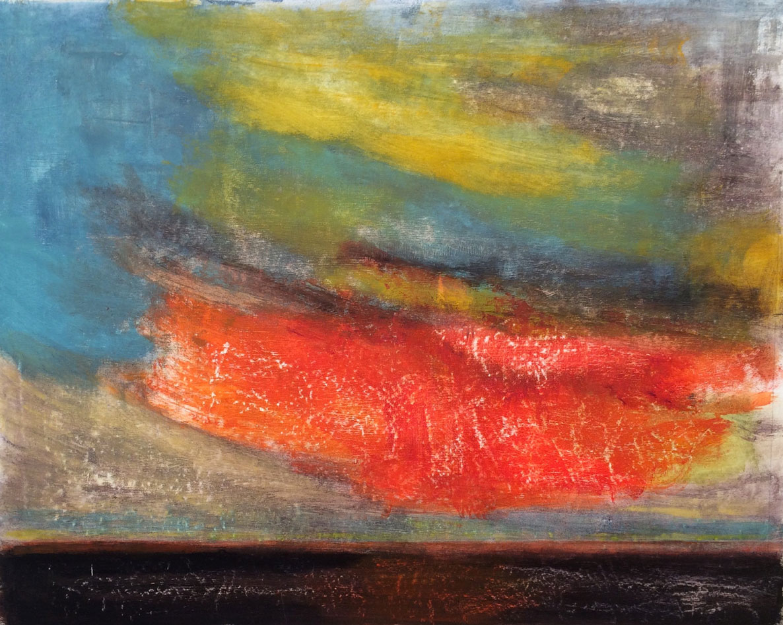 N°2293 - Frottements de nuages - Acrylique sur toile - 81 x 100 cm - 06 avril 2016