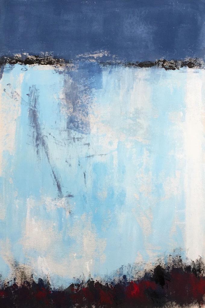N°4066 - Acrylique sur toile - 100 x 67 cm - 18 janvier 2018