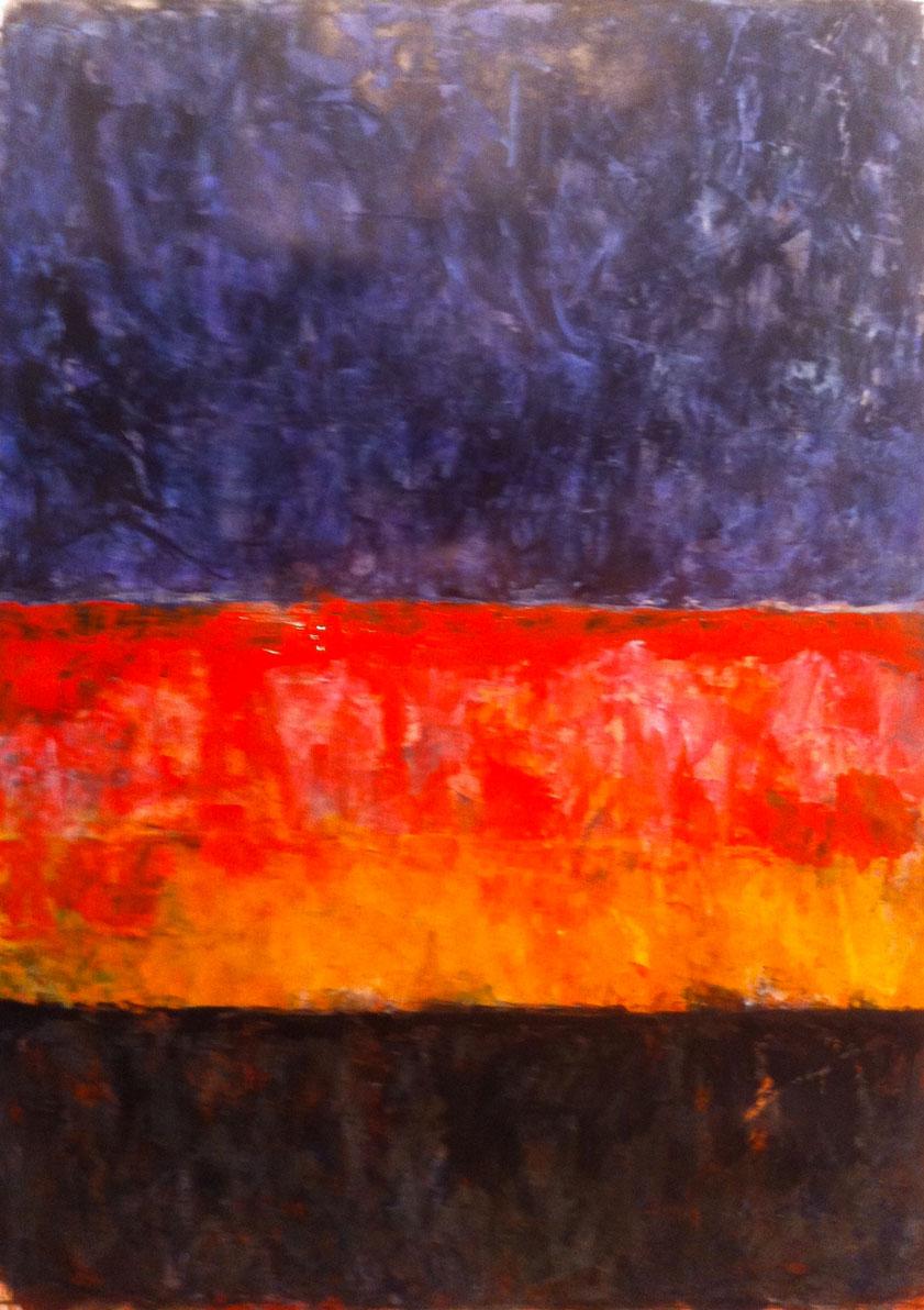N°1060 - Ciel d'encre - Acrylique sur papier - 58,5 x 43,5 cm - 18 janvier 2014