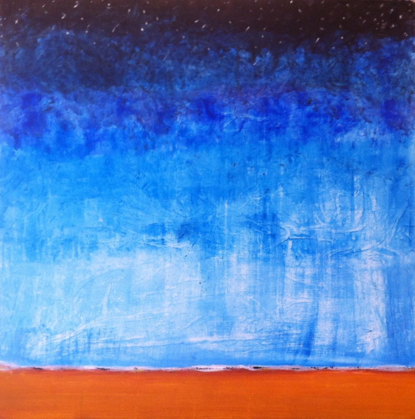 N°1285 - De la terre à la lune - Acrylique sur toile - 90 x 90 cm - 19 mars 2014