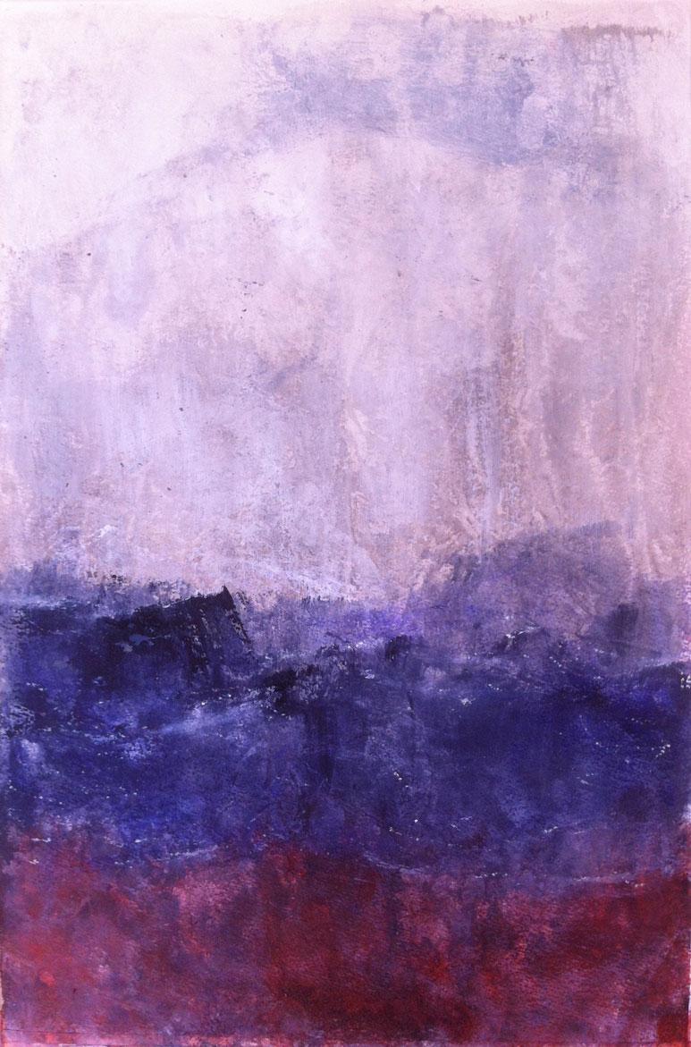 N°1357 - Avis de tempête - Acrylique sur papier - 55 x 37 cm - 17 avril .2014