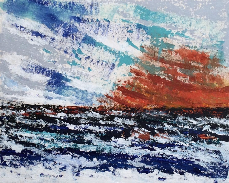N°2509 - Le vent se lève - Acrylique et pigments sur toile - 65 x 81 cm - 26 mai.2016