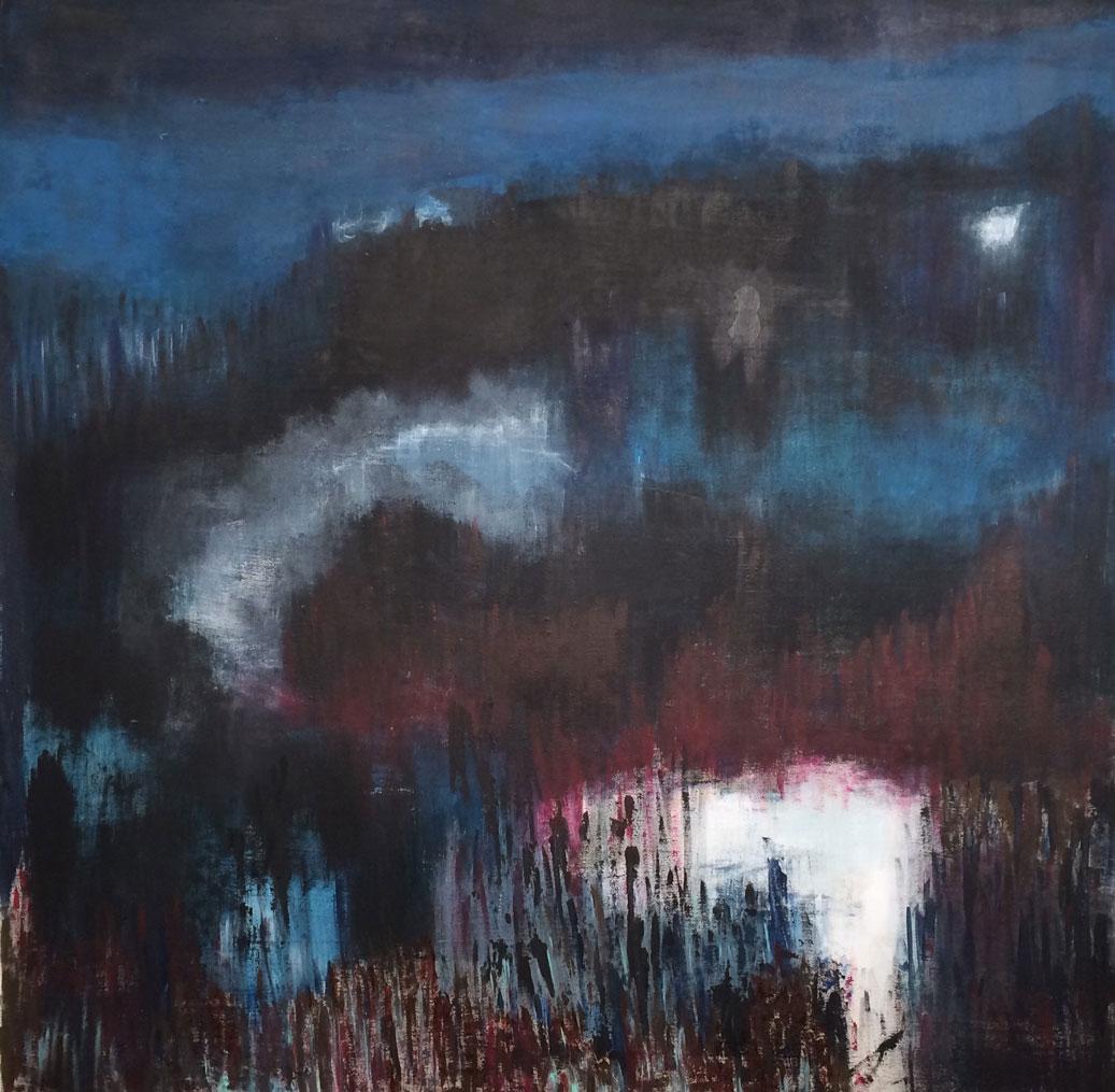 N°2545 - Clair de lune - Acrylique et pigments sur toile - 90 x 90 cm - 25 juin 2016