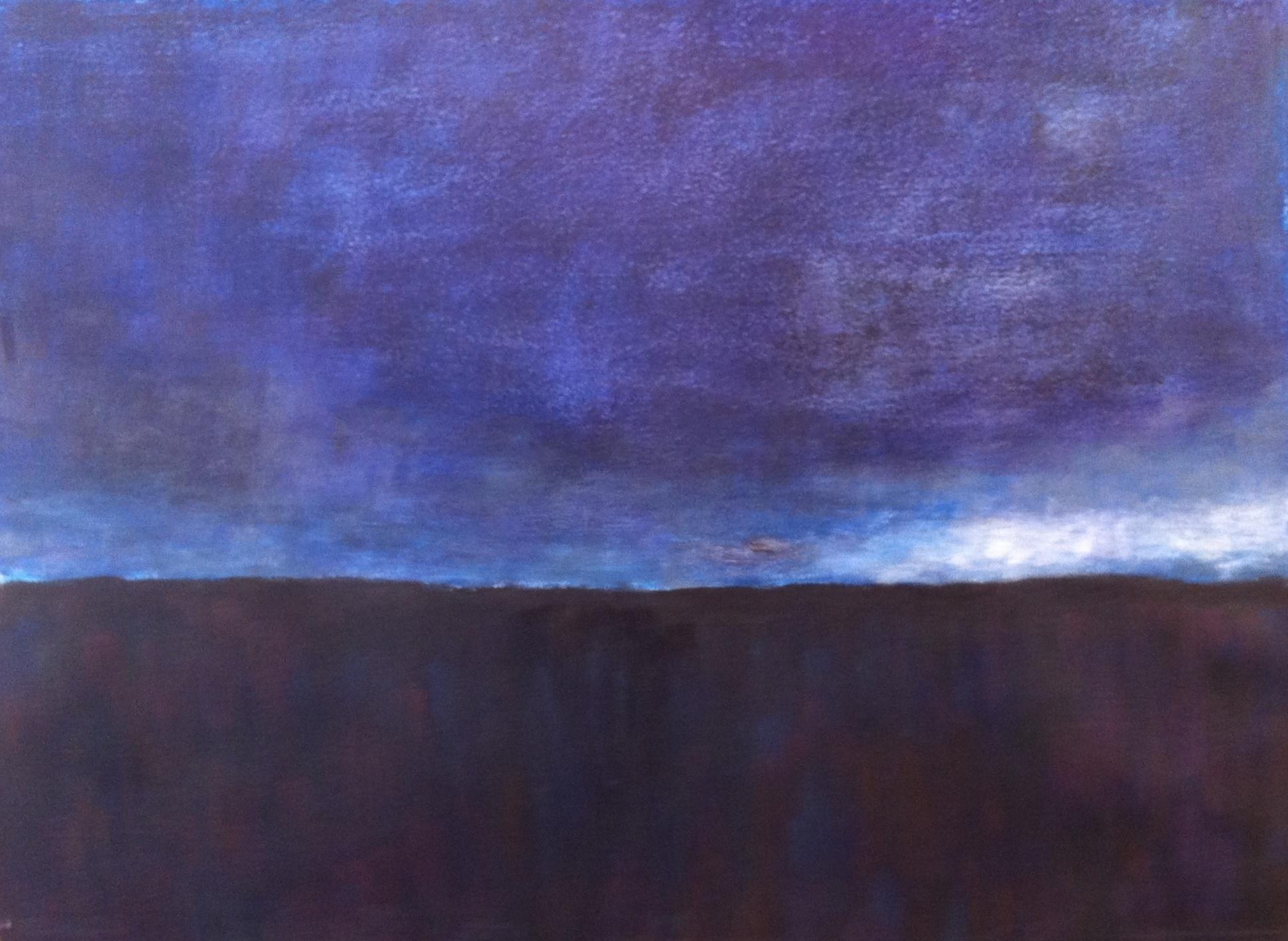 N°331 - Avant la pluie - Acrylique sur papier - 65 x 76 cm - 2 avril 2013