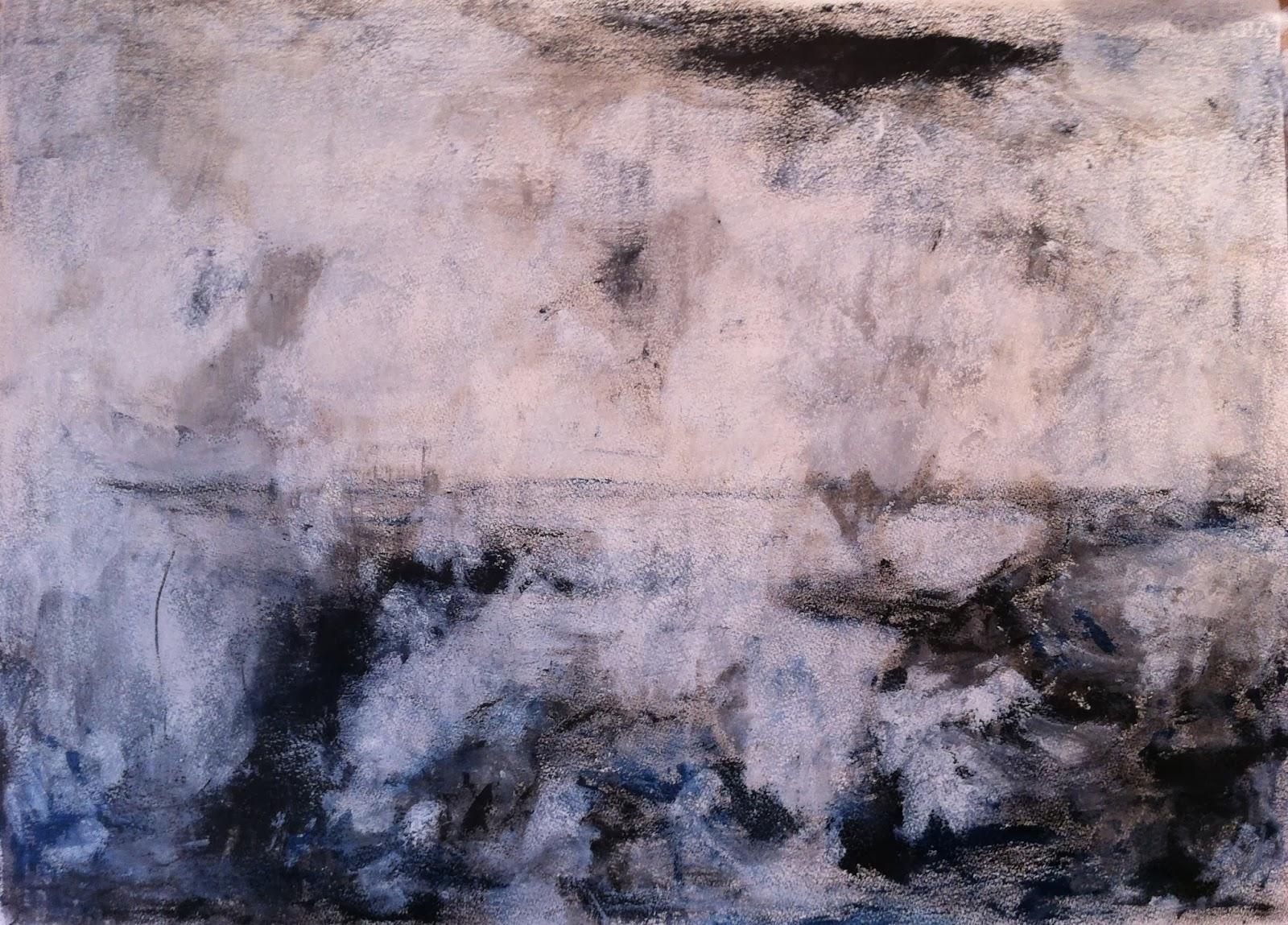 N°502 - Tempête - Acrylique sur papier - 65 x 76 cm - 19 juillet 2013