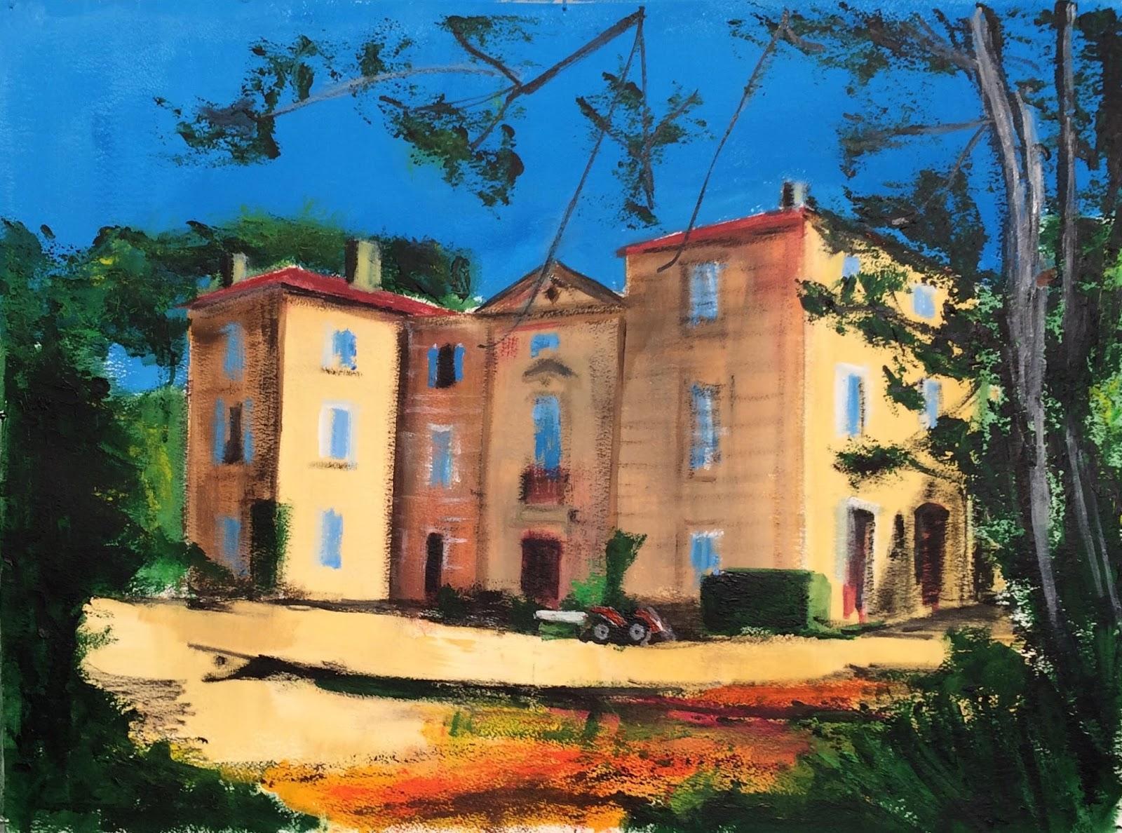 N°3031 - Le château d'Edgar - Acrylique sur papier - 56 x 76 cm - 12 août 2016