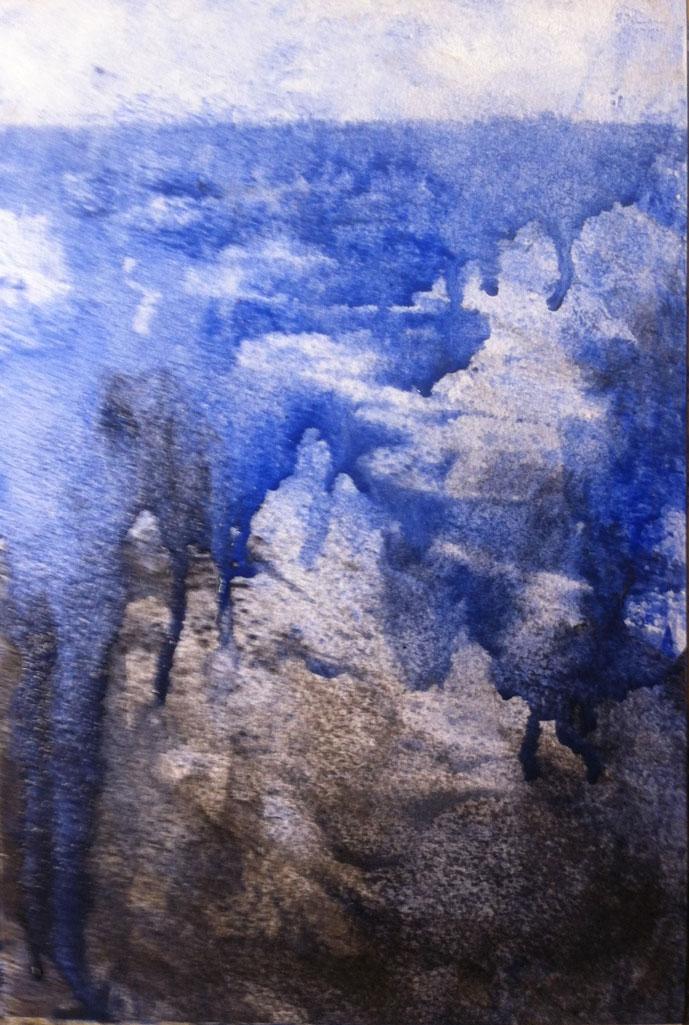 N°871 - Seul Boutès sauta - Acrylique sur papier - 28 x 19 cm - 06 décembre 2013