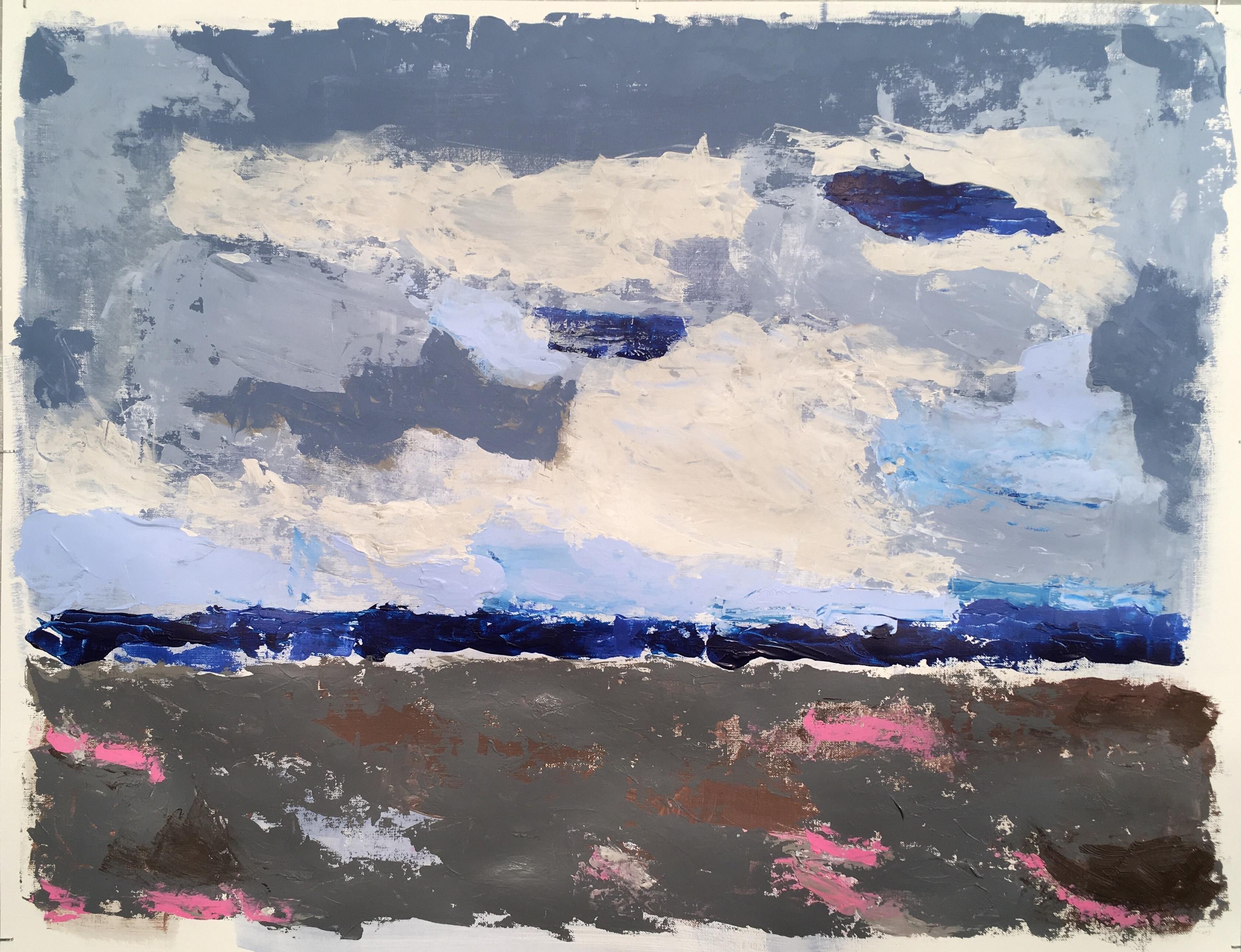 N° 4174 - Acrylique sur papier - 50 x 65 cm - 5 septembre 2018