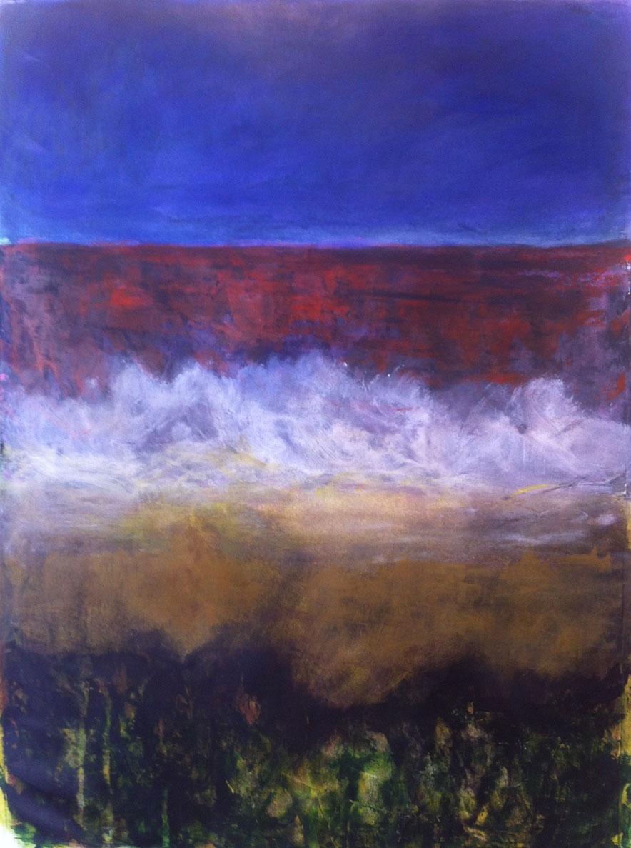 N°1078 - Ressac - Acrylique sur papier - 58 x 43 cm - 23 janvier 2014