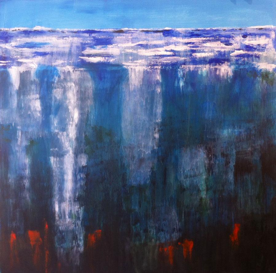 N°1267 - Vingt milles lieues sous les mers - Acrylique sur toile - 100 x 100 cm - 13 mars 2014