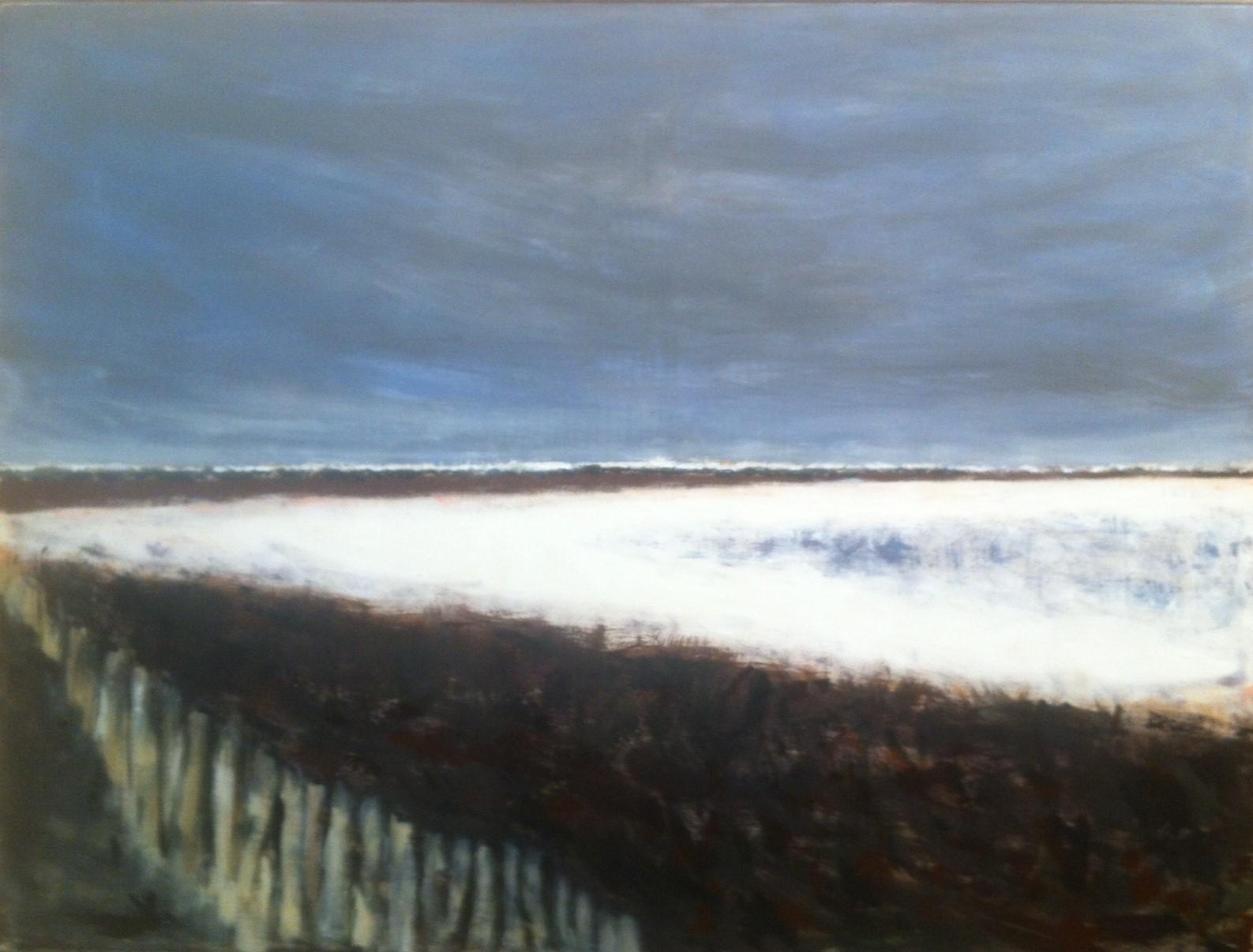 N° 1807 - Etang de sel - Acrylique sur toile - 97 x 130 cm - 17 février 2015