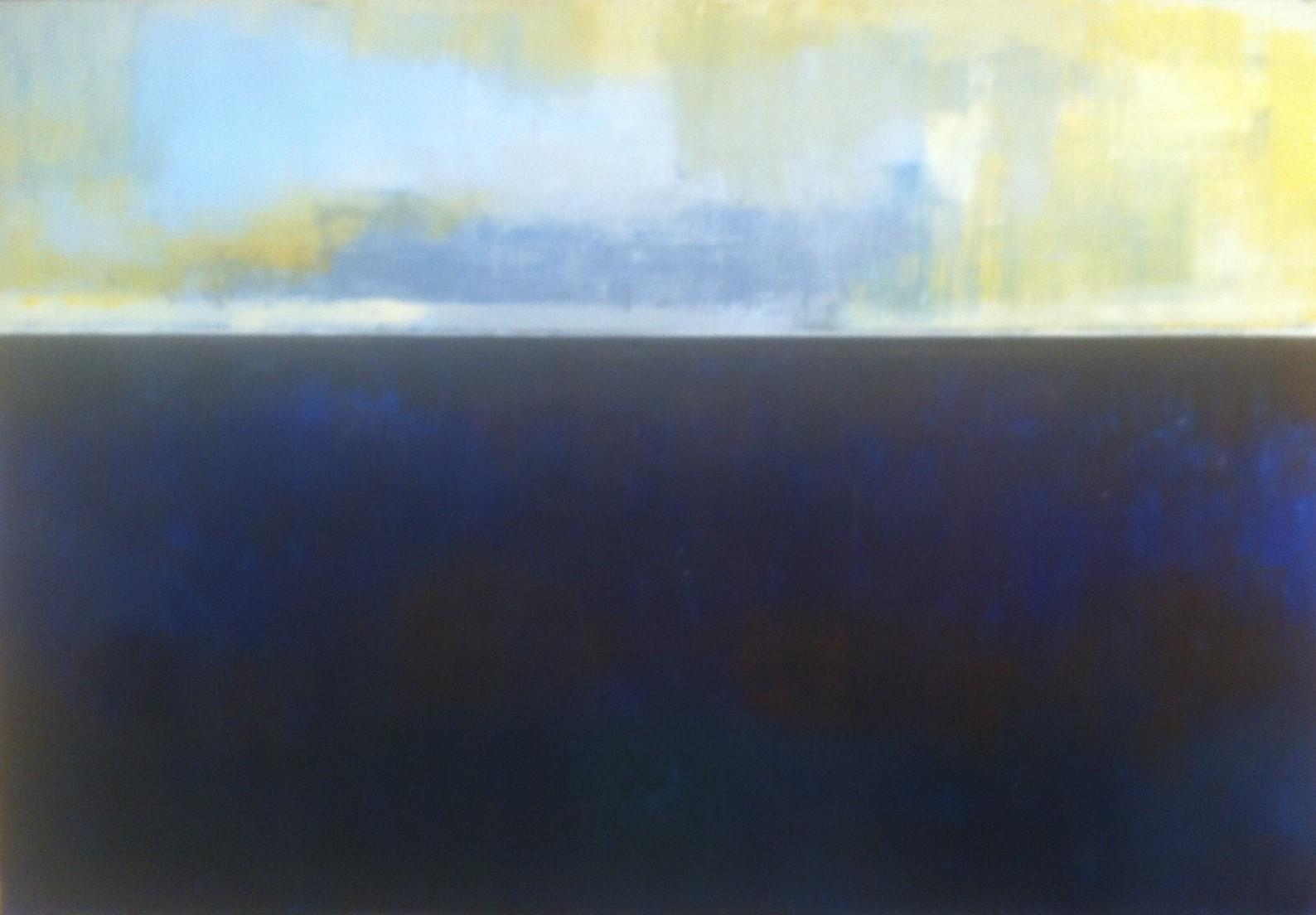 N°1825 - Pleine mer - Acrylique sur toile - 97 x 130 cm - 21 mars 2015
