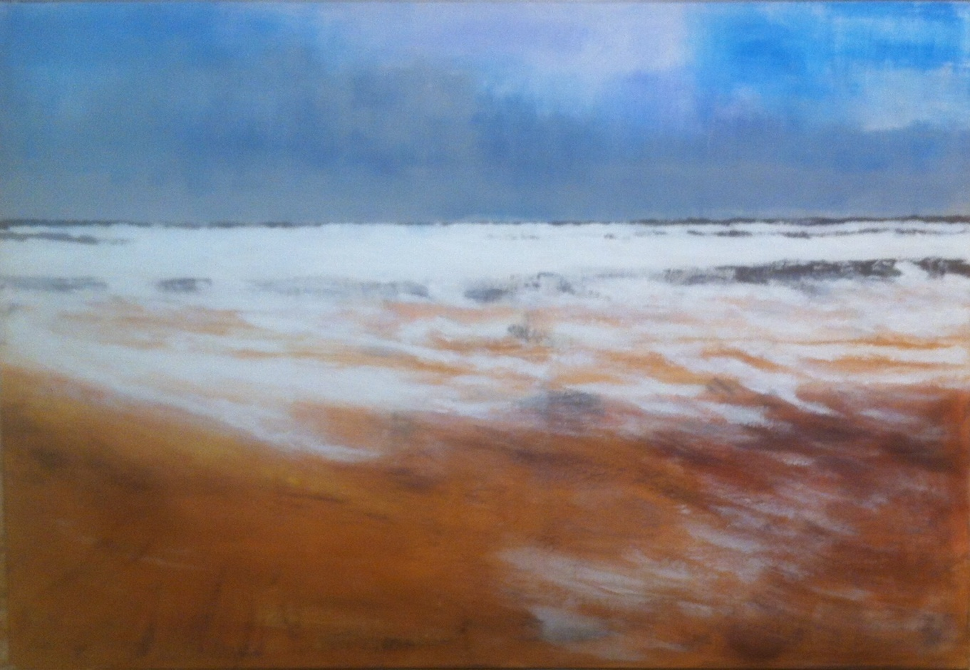 N°1834 - Ecume - Acrylique et pigments - 97 x 130 cm - 3 avril 2015