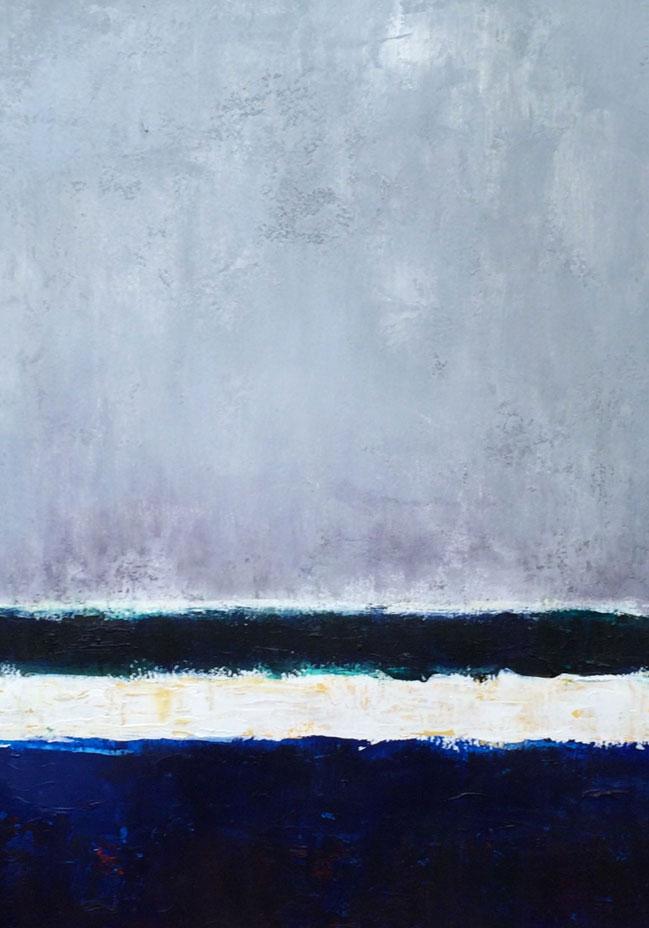 N° 2041 - Bord de mer languedocien - Acrylique sur papier - 76 x 56 cm - 9 novembre 2015