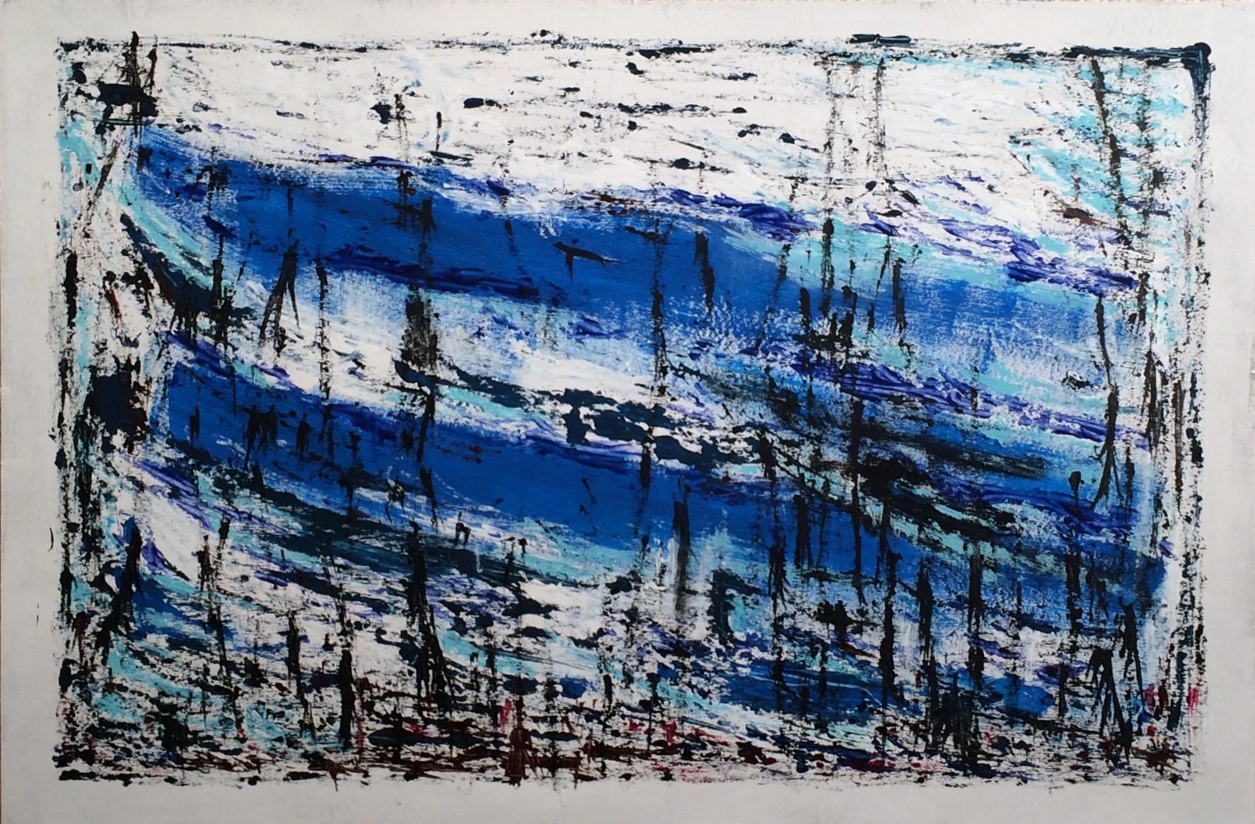 N°2419 - Roseaux - Acrylique sur carton - 80 x 120 cm - 1er mai 2016
