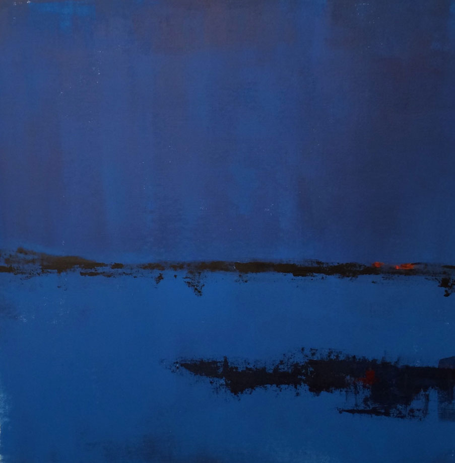 N°2554 - Crépuscule - Acrylique sur toile - 90 x 90 cm - 27 juin 2016