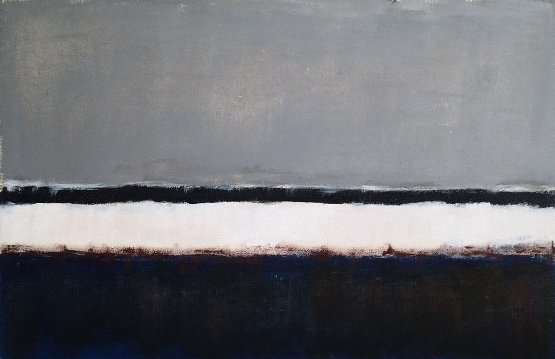 N° 3073 - Bord de mer languedocien - Acrylique sur toile - 36 x 55 cm - 23 septembre 2016
