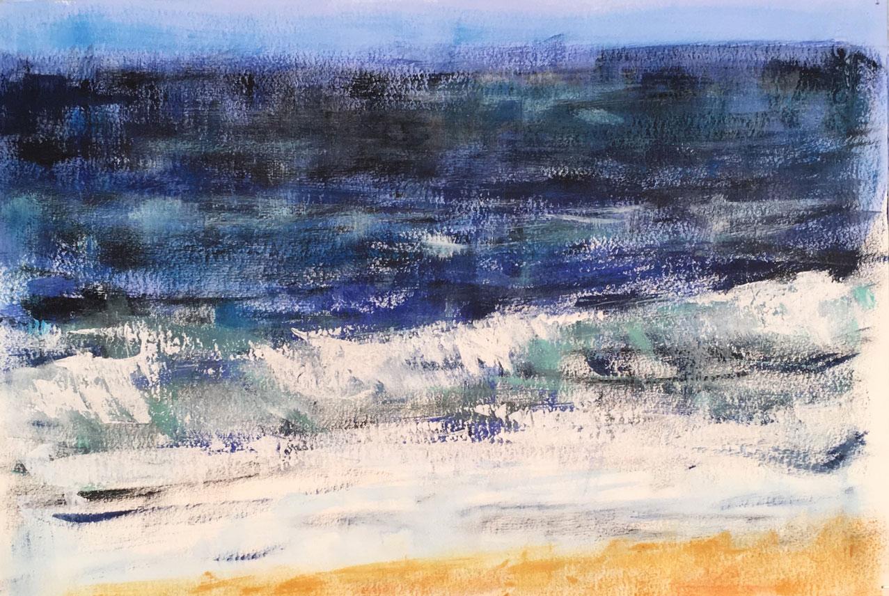 N°3454 - Acrylique et pigments sur papier - 37,5 x 56 cm - 17 octobre 2017