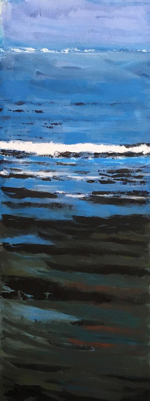 N°3490 - Acrylique et pigments sur toile - 98 x 35 cm - 17 novembre 2017