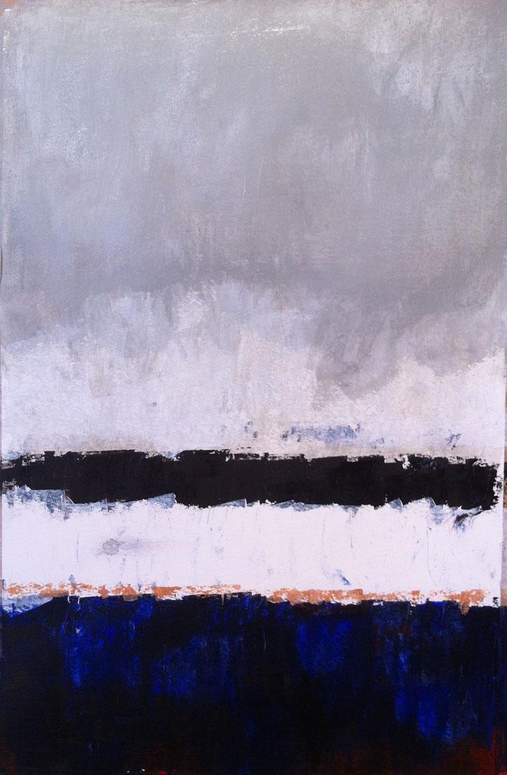 N°538 - Bord de mer anonyme - Acrylique sur papier - 53,5 x 35 cm - 24 juillet 2013