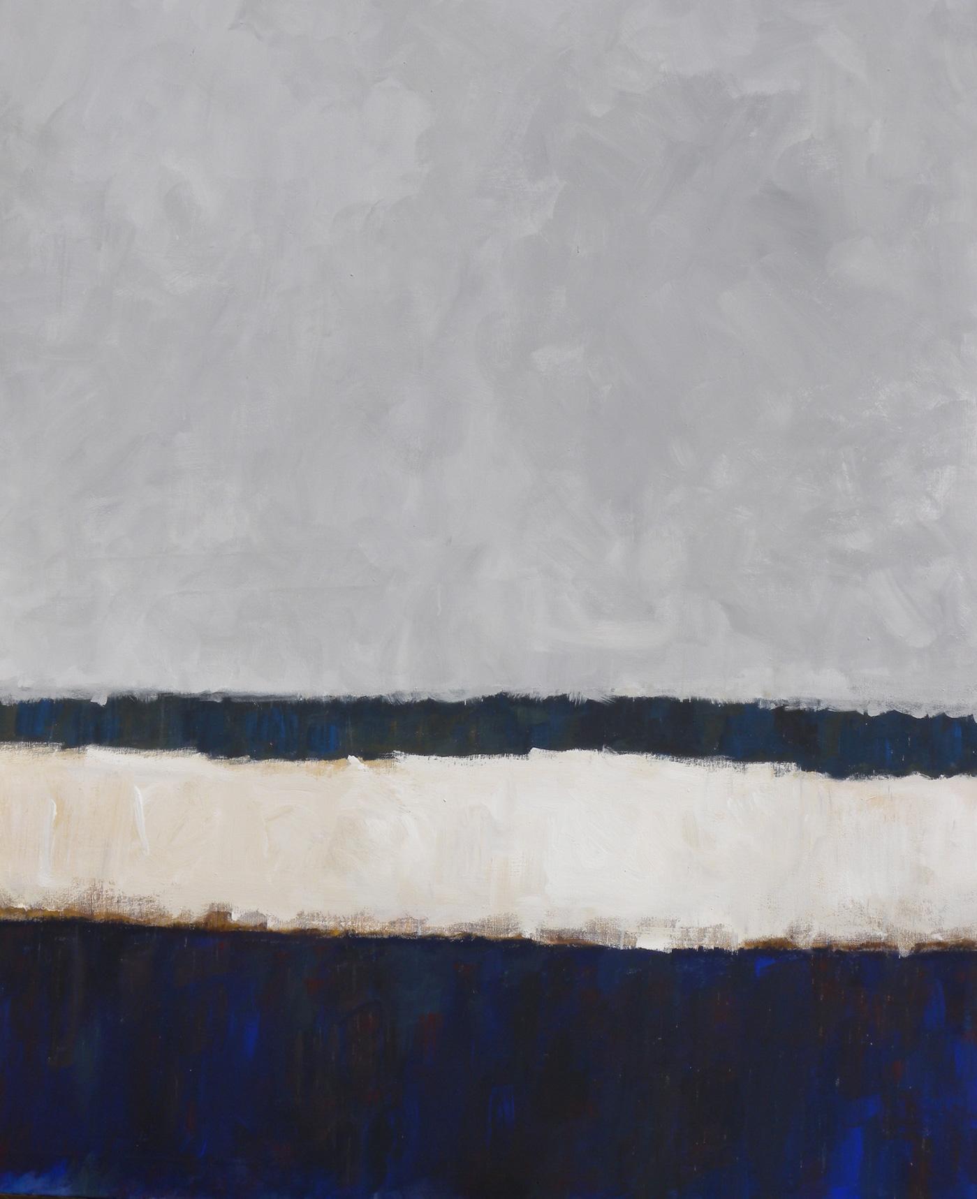 N° 70 - Bord de mer languedocien - Acrylique sur toile - 180 x 145 cm - 22 décembre 2012