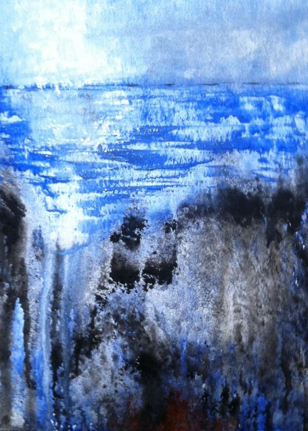 N°907 - Abyme - Acrylique sur papier - 38 x 27,5 cm - 9 décembre 2013