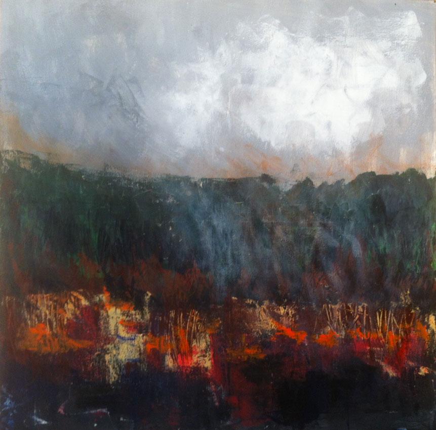 N°1474 - Brûlis - Acrylique sur toile - 100 x 100 cm - 11 juin 2014