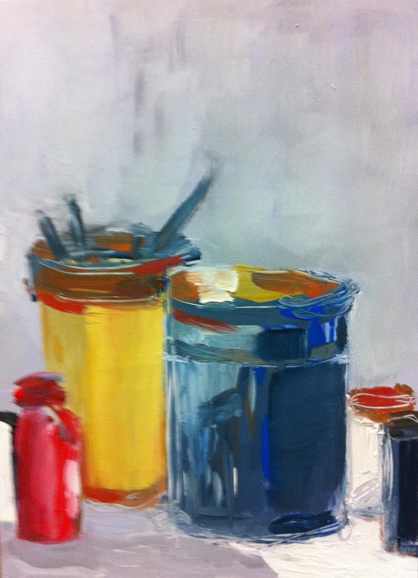 N°25 - Pots de peinture - Acrylique sur toile - 73 x 54 cm - 26 novembre 2012