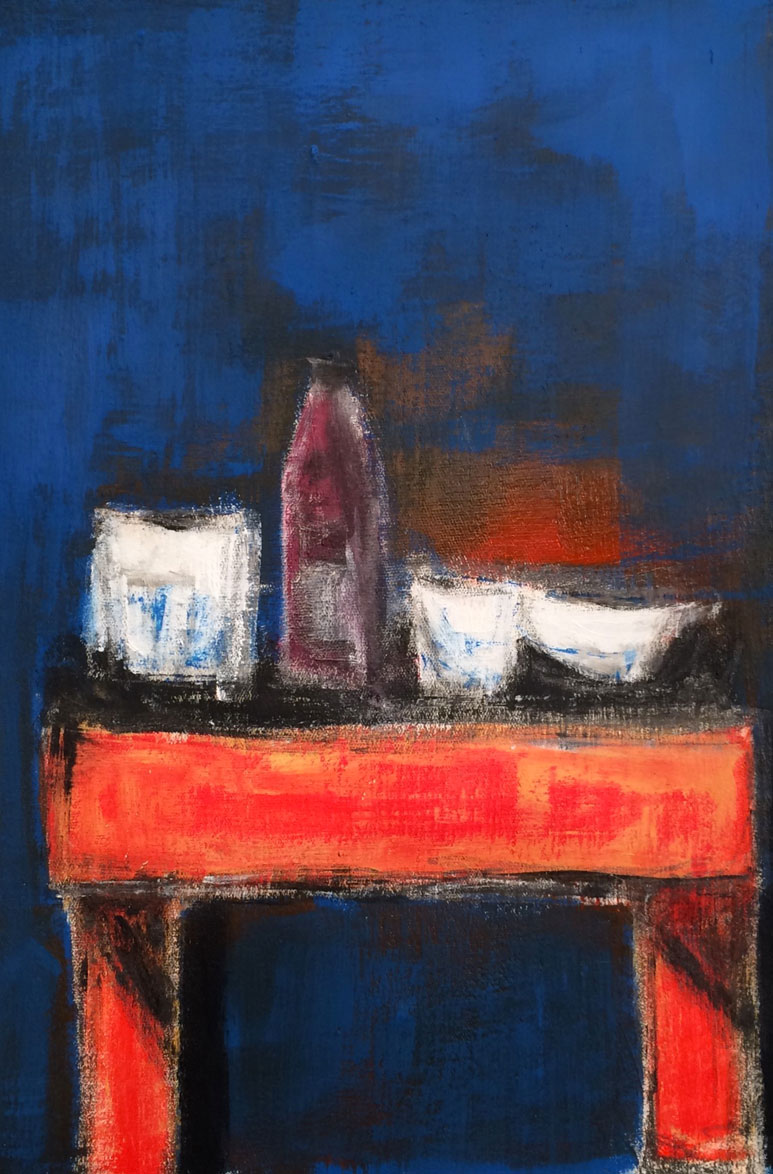 N°3094 - Acrylique sur toile - 36 x 25 cm - 26 septembre 2016