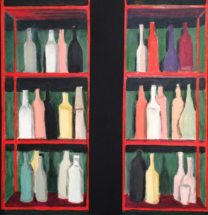 N°3121 - Acrylique sur toile - Diptyque 2 (51 x 20 cm) - 1er octobre 2016