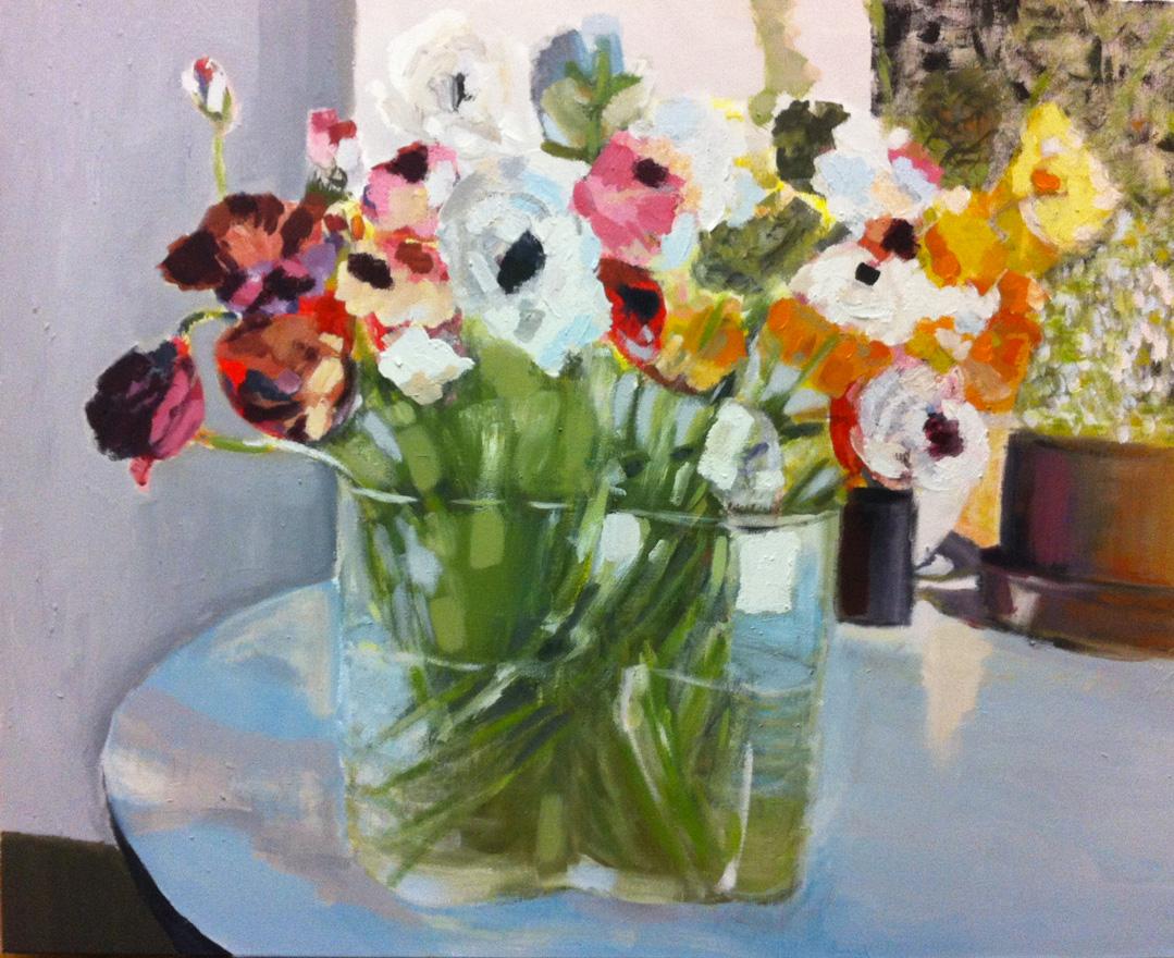 N°52 - Anémones - Acrylique sur toile - 65 x 81 cm - 13 décembre 2012