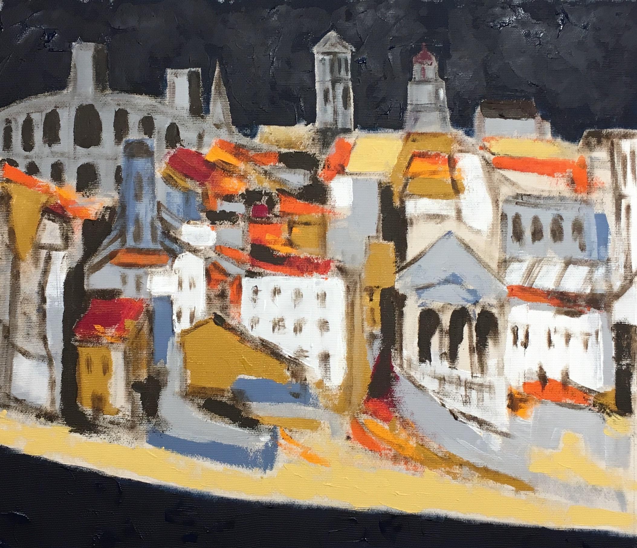 N° 4210 - Arles - Acrylique sur toile - 54 x 65 cm - 10 octobre 2018