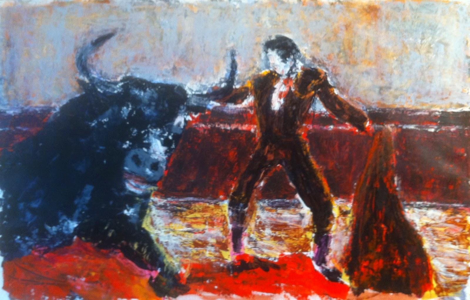 N°1573 - A las cinco - Acrylique sur papier - 65 x 100 cm - 24 septembre 2014