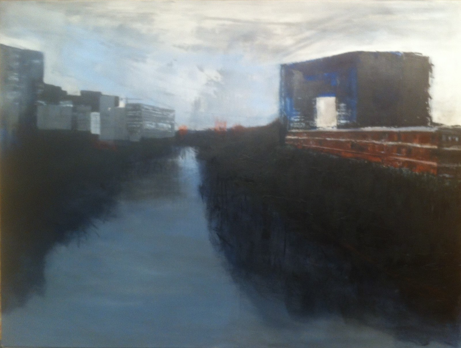 N°1780 - Rives du Lez - Acrylique sur toile - 97 x 130 cm - 10 février 2015