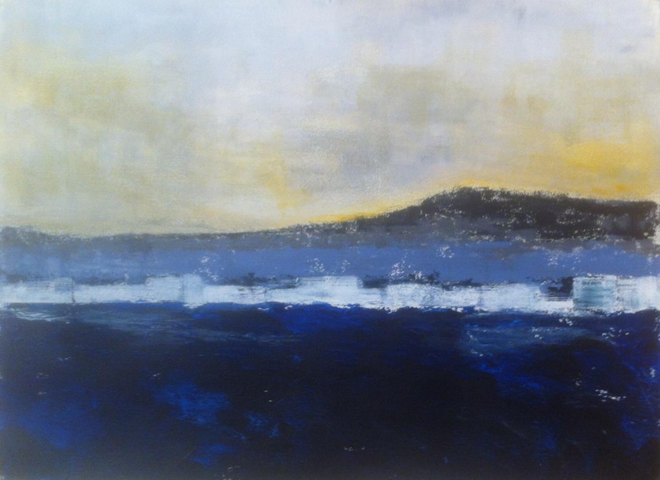 N°1861 - Mont Saint-Clair - Acrylique sur papier - 56 x 76 cm - 1er mai 2015