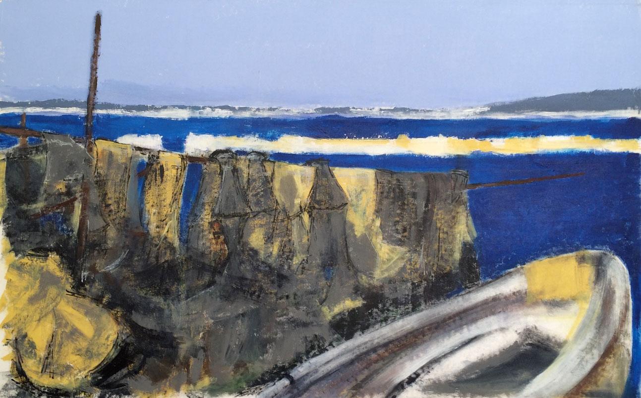 N°2212 - Sète. Pointe Courte - Acrylique sur toile - 73 x 116 cm - 16 mars.2016