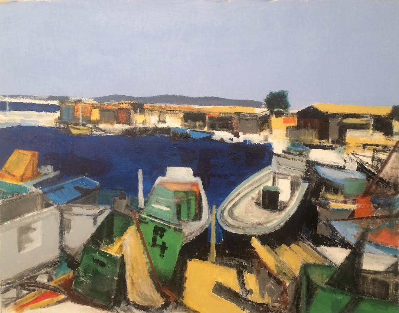 N°2230 - Sète. Pointe Courte - Acrylique sur toile - 73 x 92 cm - 18 mars 2016