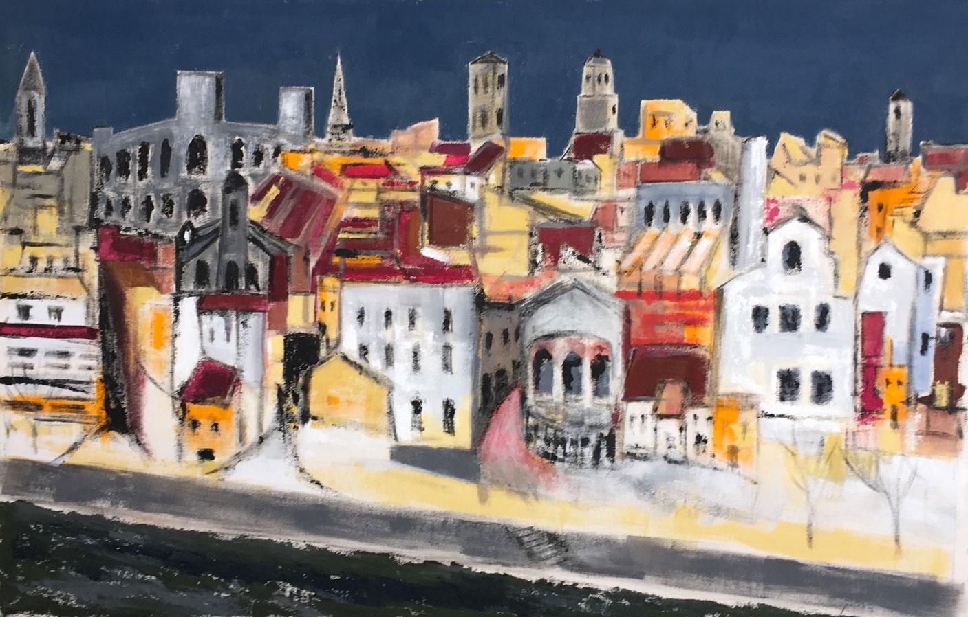 N°4039 - Arles, Hommage à Théo - Acrylique sur toile - 90 x 140 cm - 11 décembre 2017