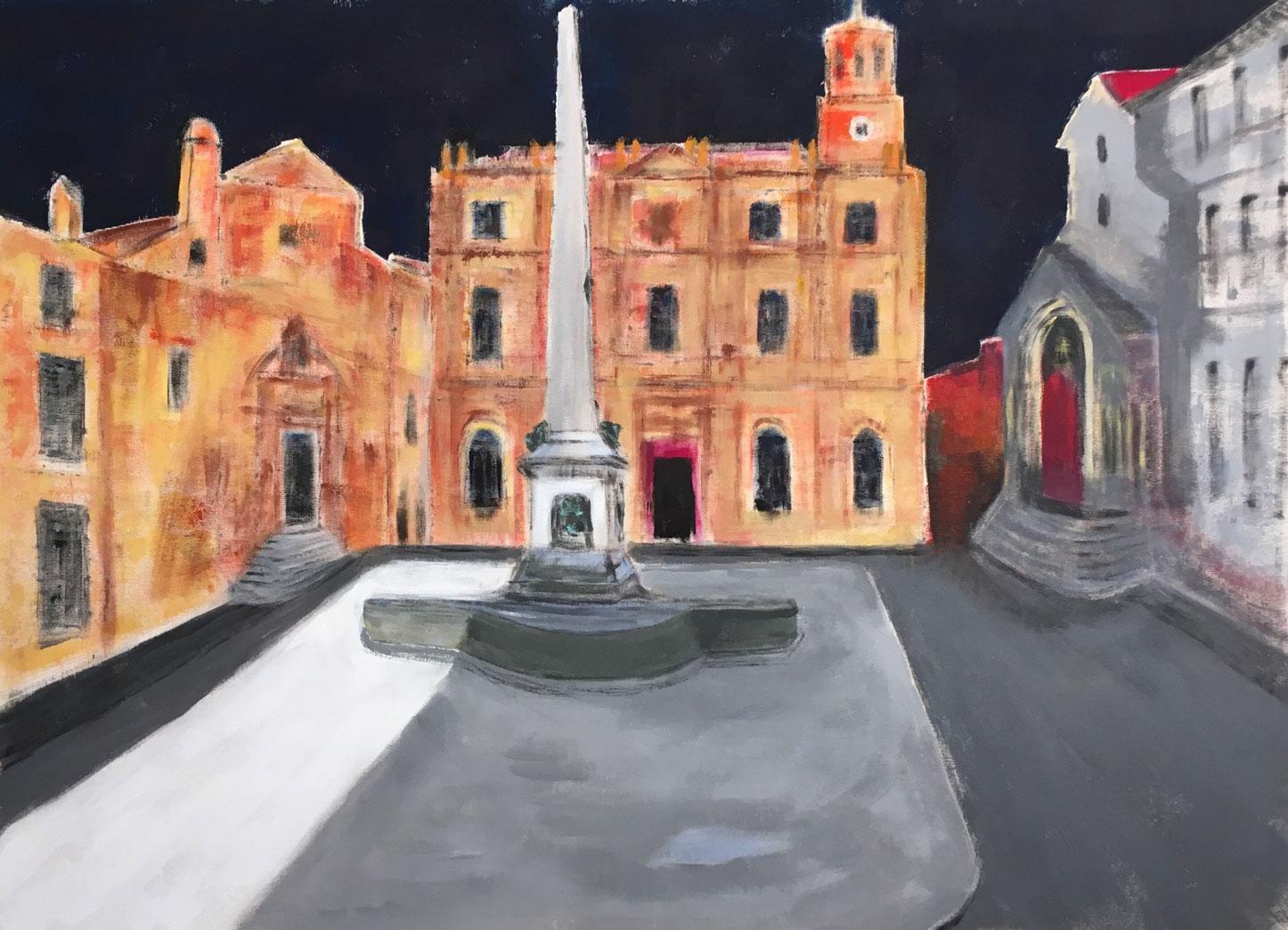 N°4048 - Arles, Hommage à Théo - Acrylique sur toile - 100 x 140 cm - 19 décembre 2017