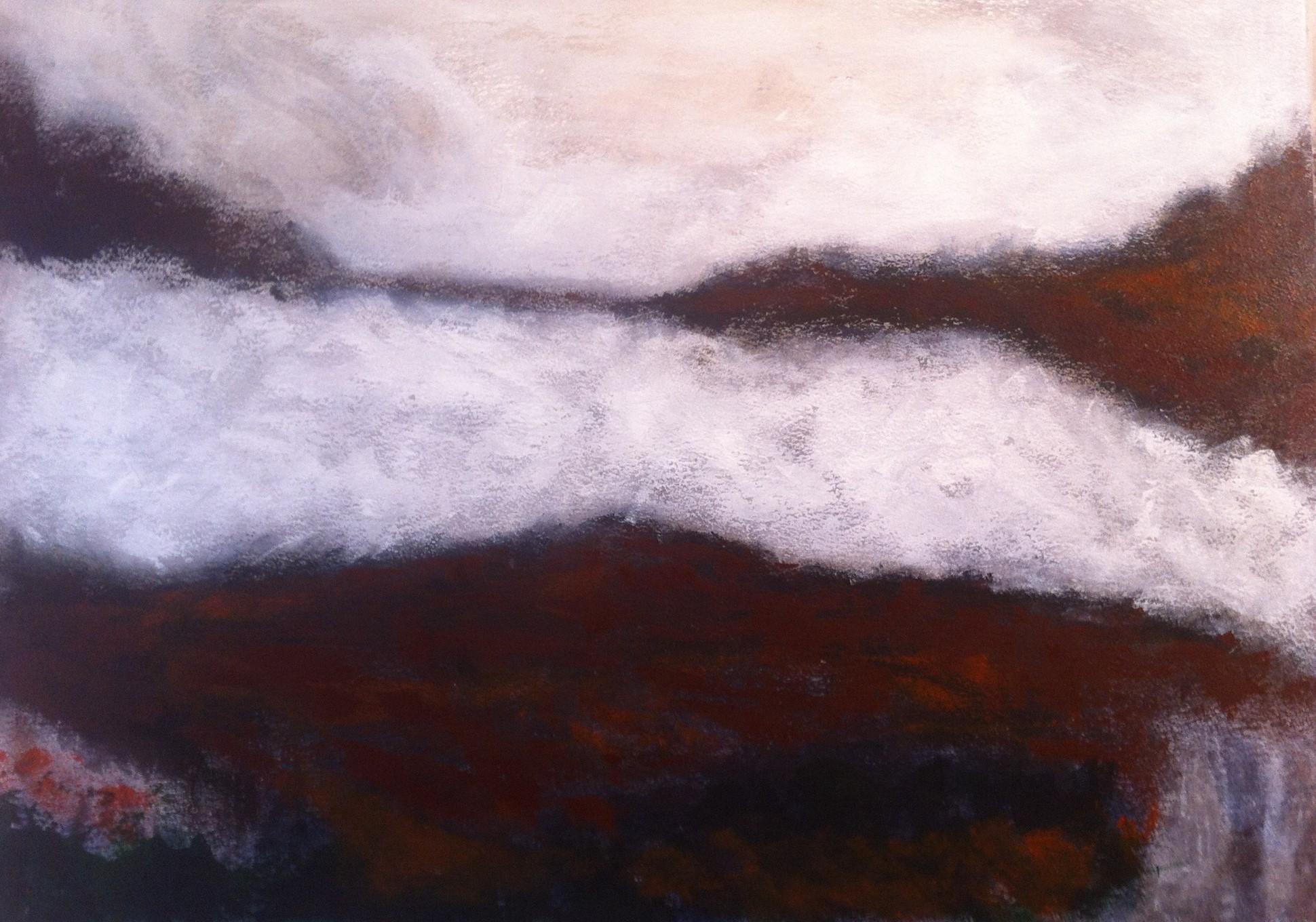 N°1024 - Mer de glace - Acrylique sur papier - 65 x 76 cm - 7 janvier 2014