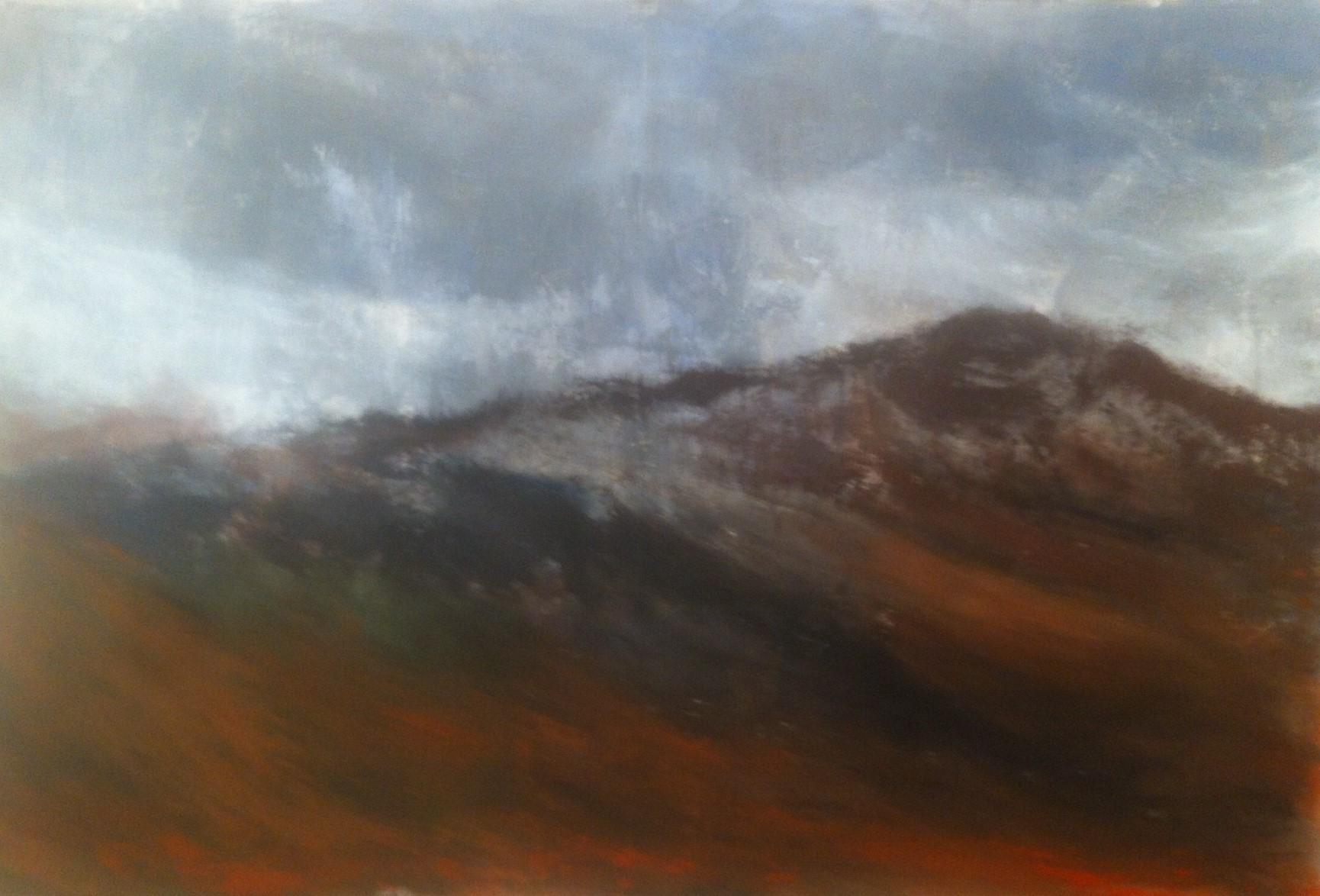 N°1870 - Colline d'automne - Acrylique sur toile - 130 x 195 cm - 9 mai 2015