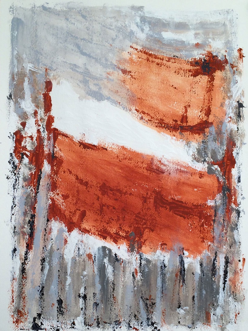 N°2329 - Forêt - Acrylique et pigments sur papier - 76 x 56 cm - 20 avril 2016