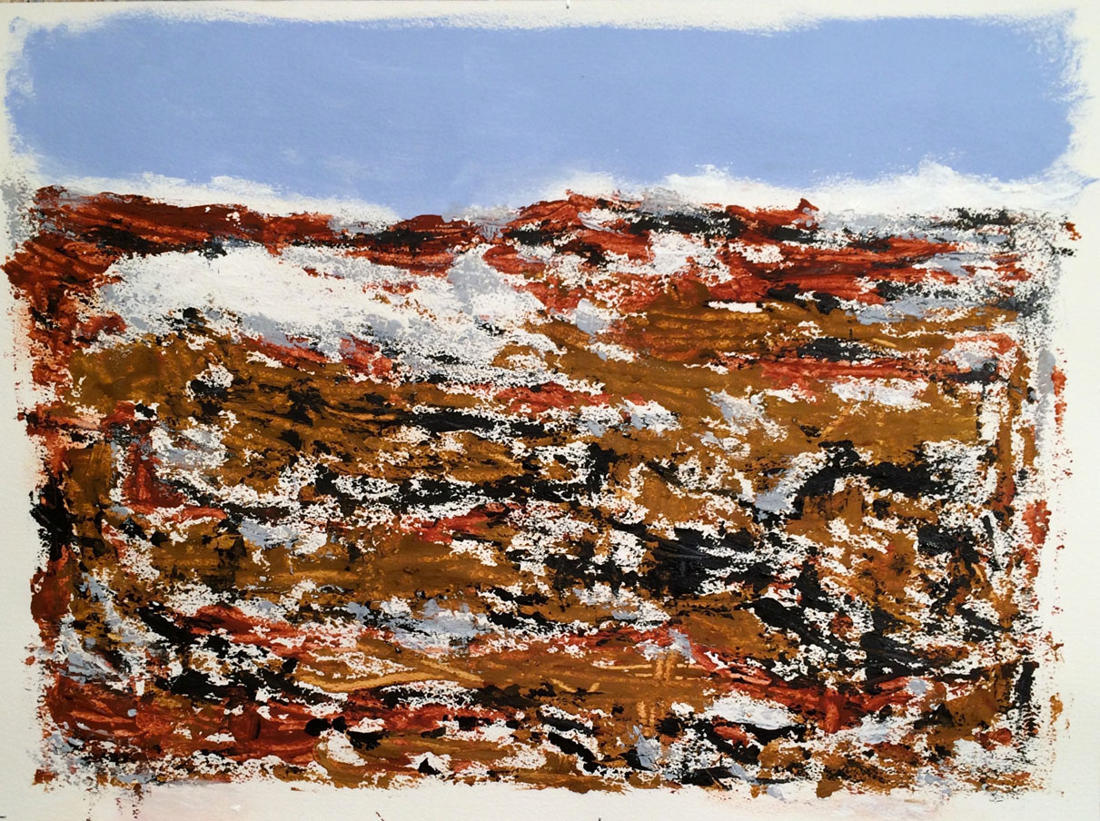 N°2347 - Reg - Acrylique et pigments sur papier - 56 x 76 cm - 20 avril 2016
