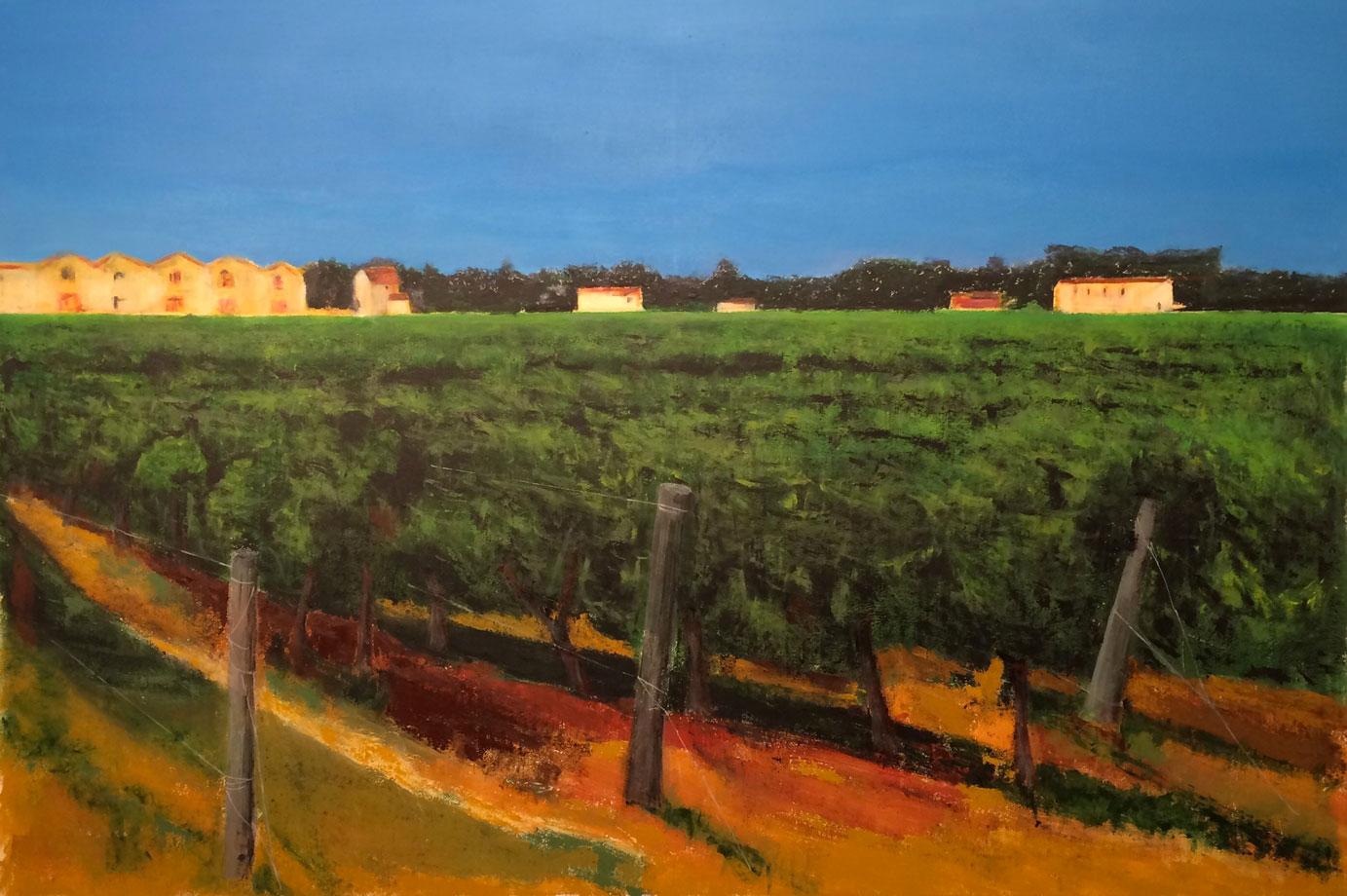 N°3130 - Les quatre saisons à l'Enclos de la Croix - L'été - Acrylique et pigments sur toile - 130 x 195 cm - 16 octobre 2016