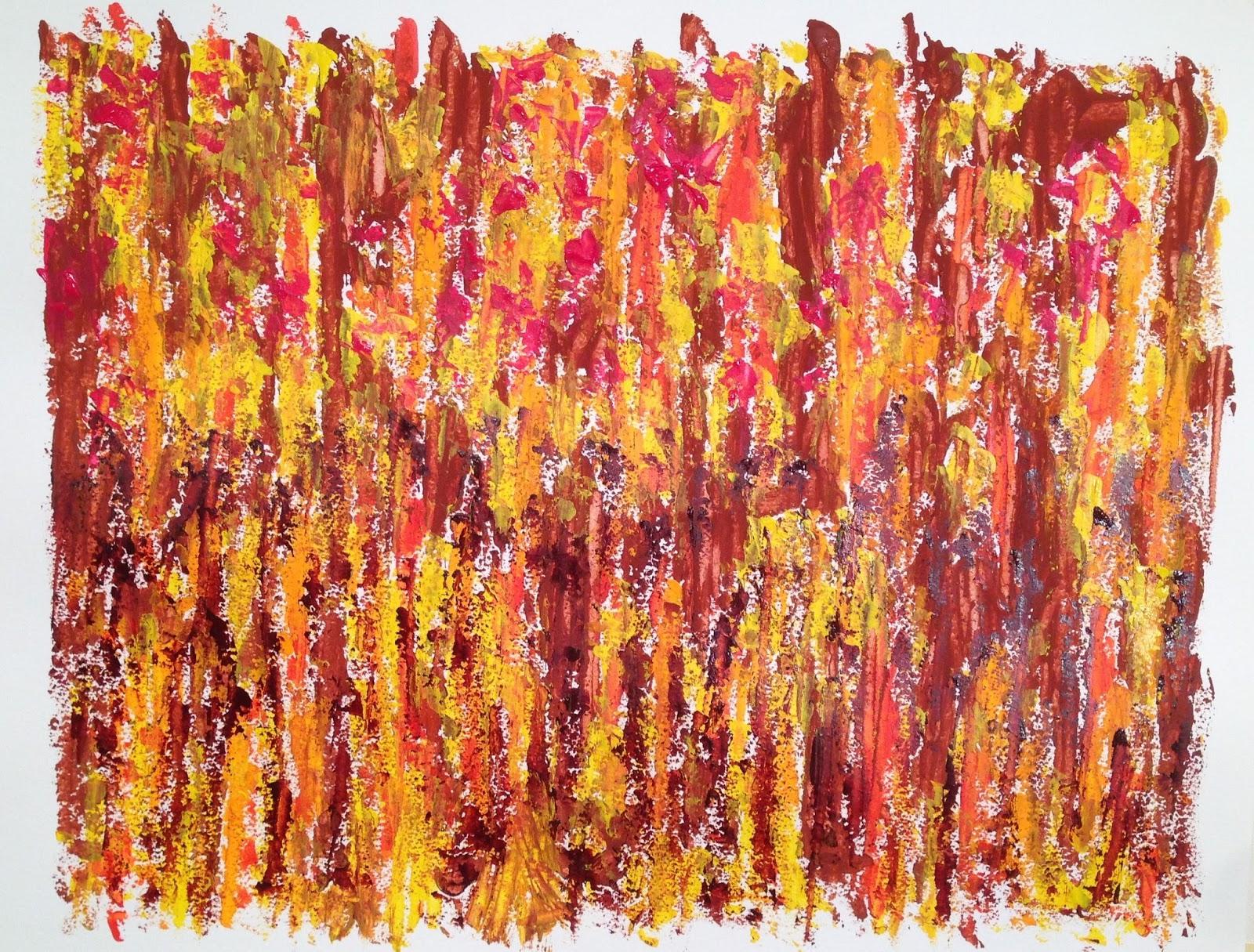N° 3328 - Champ - Acrylique et pigments sur papier - 50 x 65 cm - 15 juin 2016