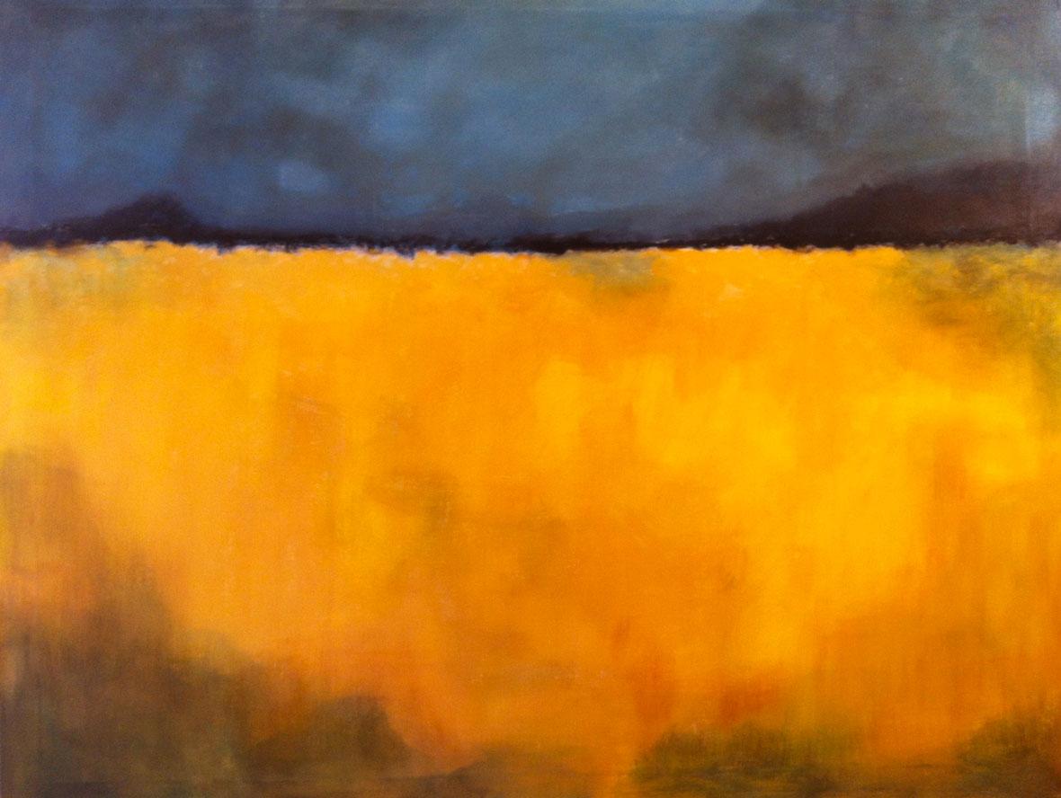 N°403 - Champ de colza - Acrylique sur toile - 114 x 146 cm - 25 avril 2013