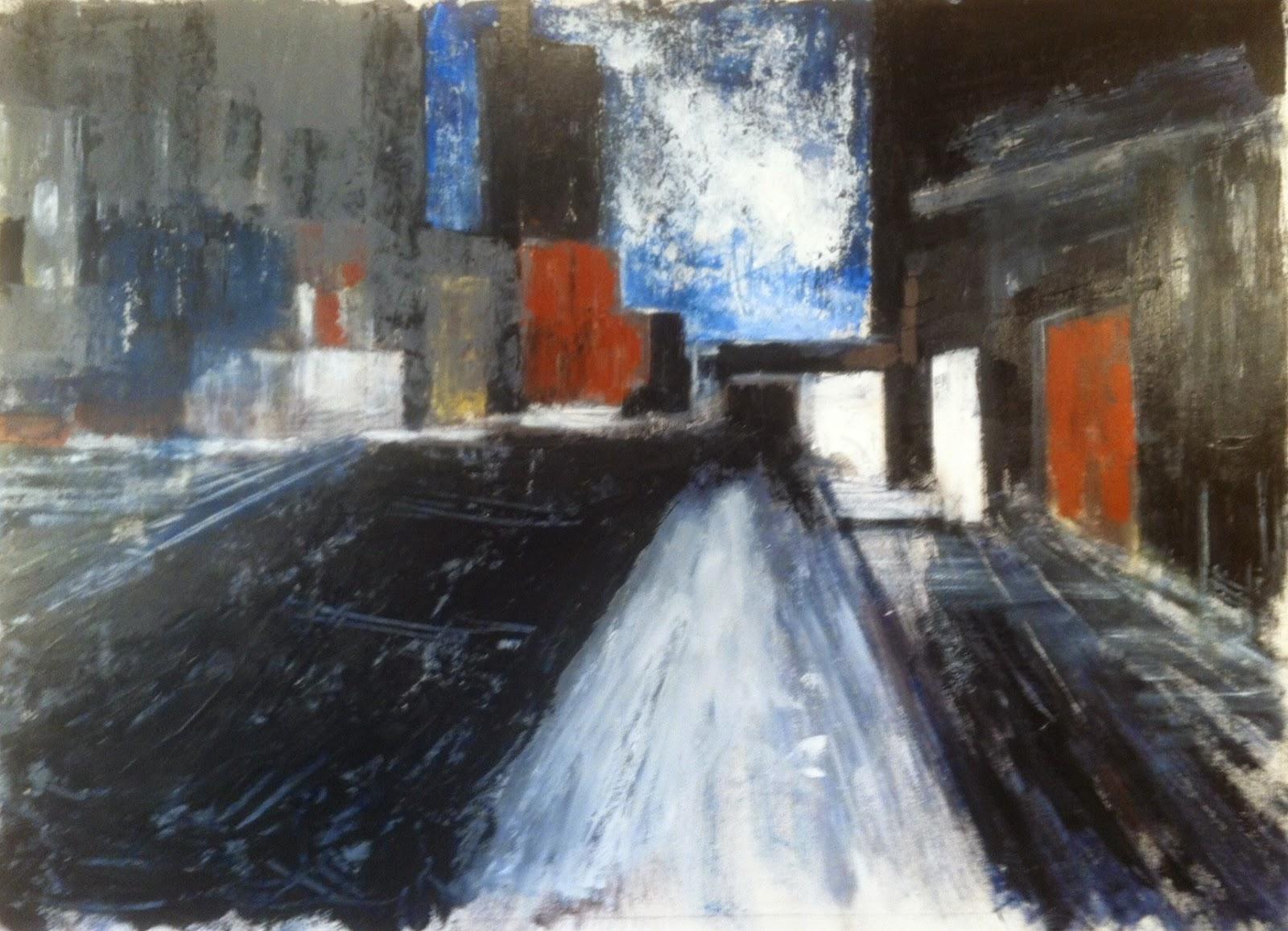 N°1564 - Town - Acrylique sur toile - 98 x 140 cm - 18 septembre 2014