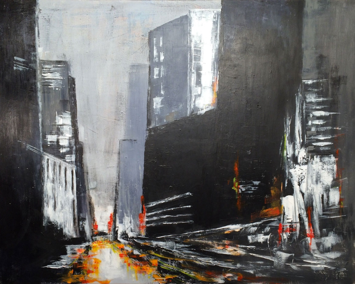 N°2023 - Sun City - Acrylique sur toile - 97 x 146 cm - 21 octobre 2015