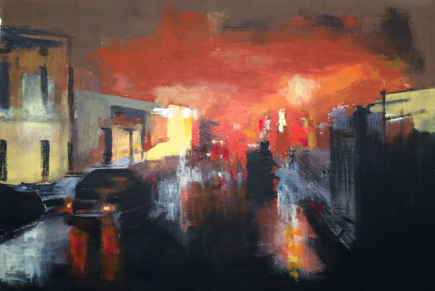 N°2104 - Acrylique et pigments sur toile - 89 x 130 cm - 11 décembre 2015
