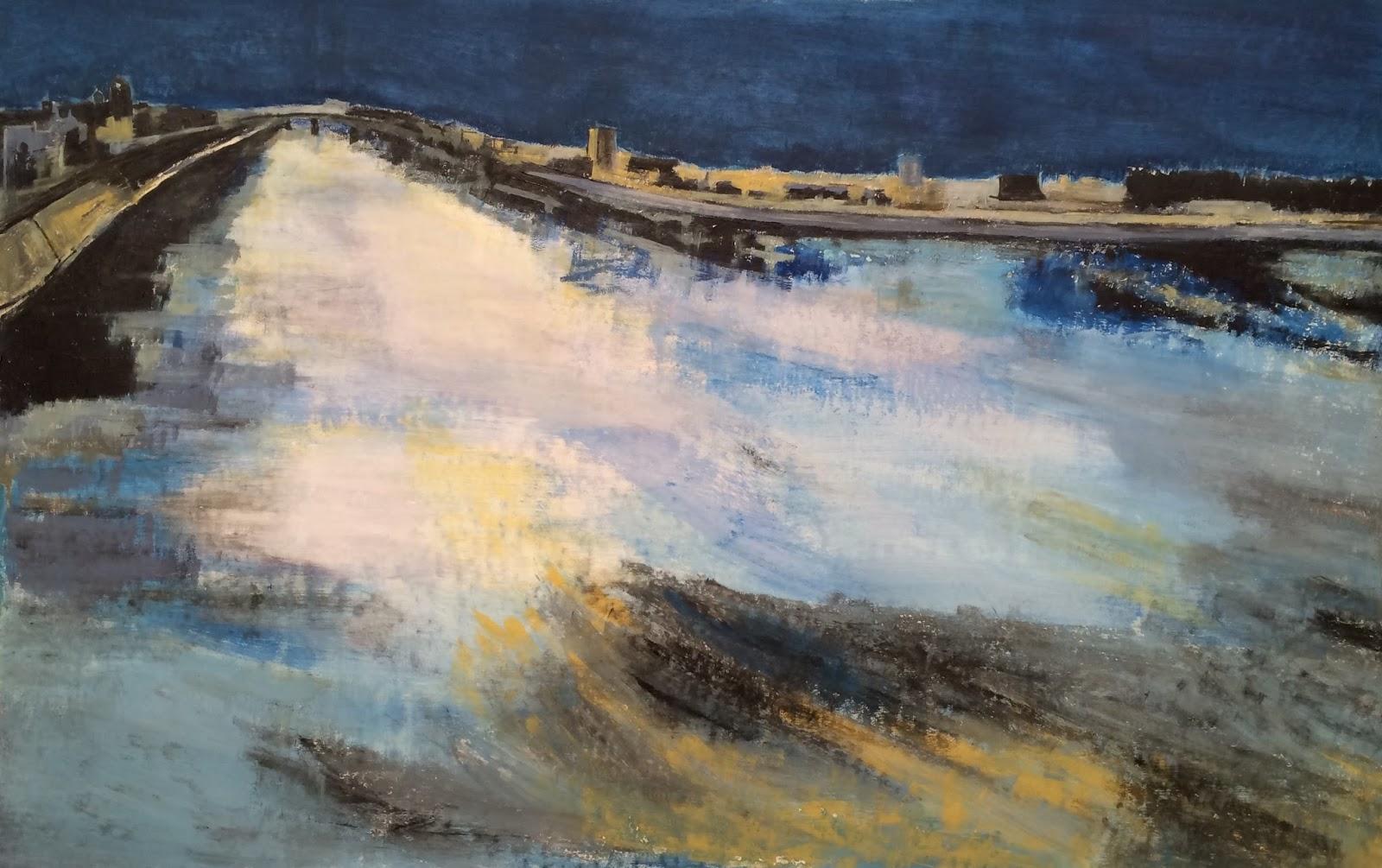 N°2302 - Arles, le Poème du Rhône - Acrylique sur toile - 81 x 130 cm - 10 avril 2016